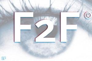 Oog met F2F logo
