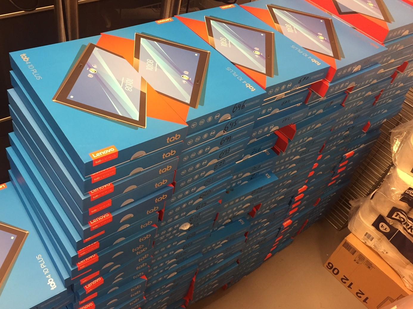 Lenovo tablets in dozen