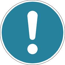 uitroepteken blauw corona update